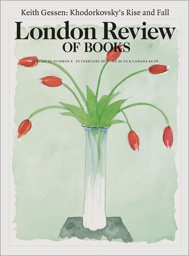 London Review of Books. 25 February 2010. Cover: Peter Campbell.