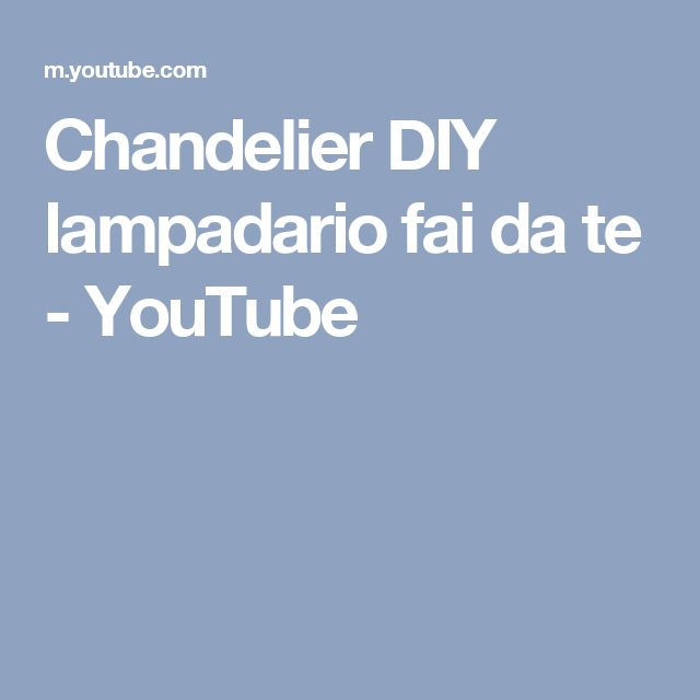 Chandelier DIY lampadario fai da te - YouTube #diy #plasticbottles #creativerecycling #bottigliediplastica #riciclocreativo #idee