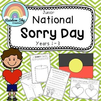 Junior National Sorry Day Pack - Reconciliation Pack. Includes 8 activities that to educate students about the day.