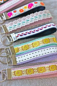 DIY Craft: 76 Crafts To Make and Sell - Easy DIY Ideas for Cheap Things To Sell on Etsy, Online and for Craft Fairs. Make Money with These Homemade Crafts for Teens, Kids, Christmas, Summer, Mother's Day Gifts. |  Wristlet Key Fob  |  diyjoy.com/crafts-to-make-and-sell