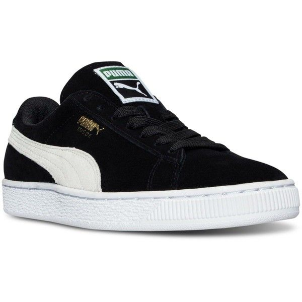 Puma Women's Suede Classic Casual Sneakers from Finish Line ($65) ❤ liked on Polyvore featuring shoes, sneakers, suede leather shoes, suede shoes, suede sneakers, puma shoes and puma footwear
