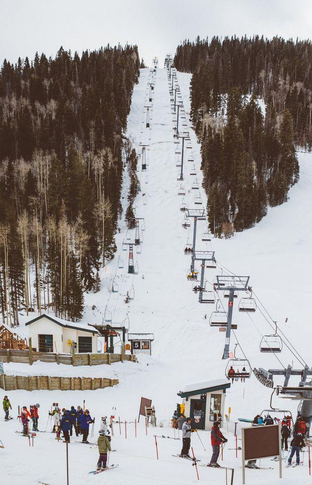 Gorgeous slopes at Taos Ski Valley, NM