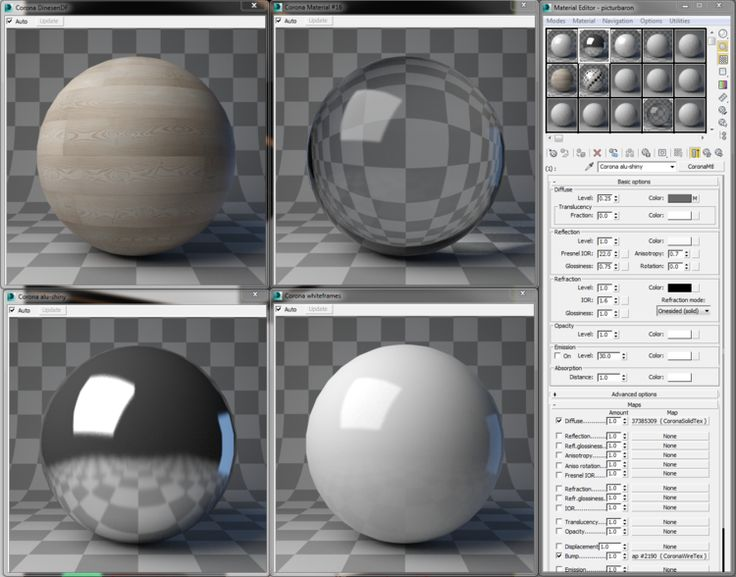 Love the material previews in Corona. Need to have a crack at this myself on my next personal project.