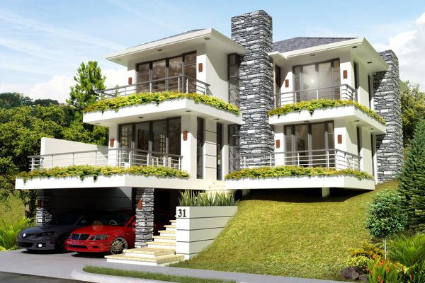 Designed for an uphill lot this house owned by Mr Efren Docena  Casa in 2019  House House
