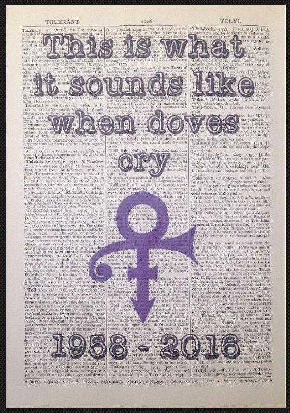 Prince 'When Doves Cry' Lyrics Vintage by ParksMoonPrints on Etsy