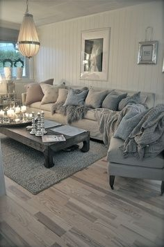 Love the wooden floor and colour scheme