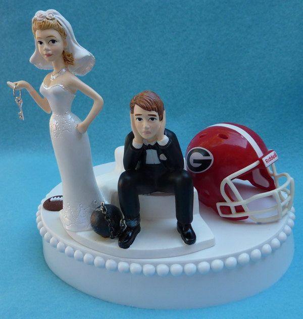 Auburn Wedding Cake Toppers