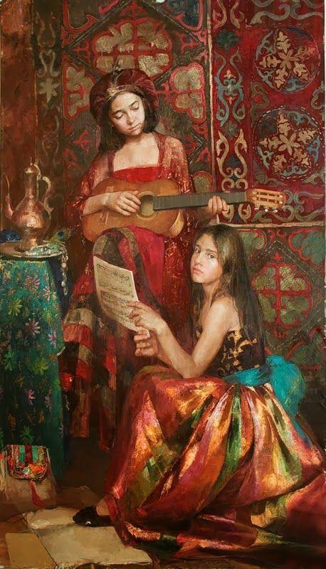 Natalya Milashevich Russian Figurative Artist, Children in Painting ~ Blog of an Art Admirer Good.