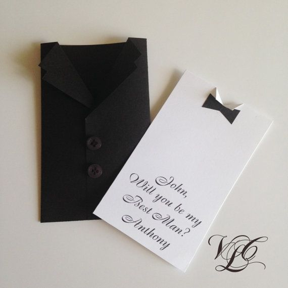 Will You Be My Best Man card Personalized Best by VintageChicLace