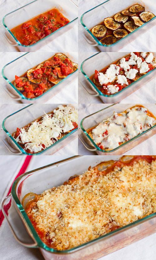 BAKED EGGPLANT PARM ... life changing.  seriously, you'll never need another recipe for this again. (baked not fried).