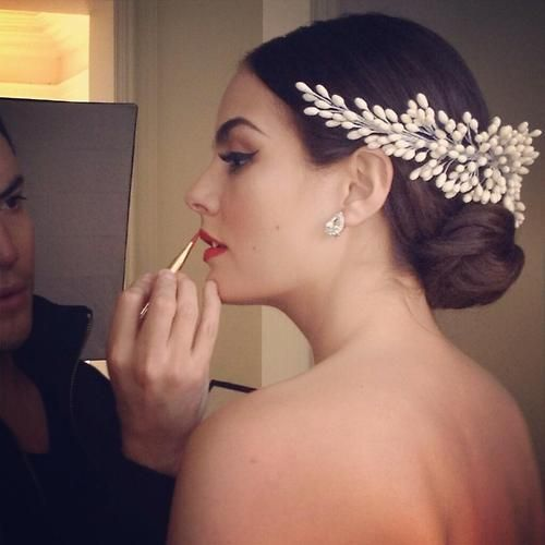 Ximena Navarrete. Love the makeup and crown
