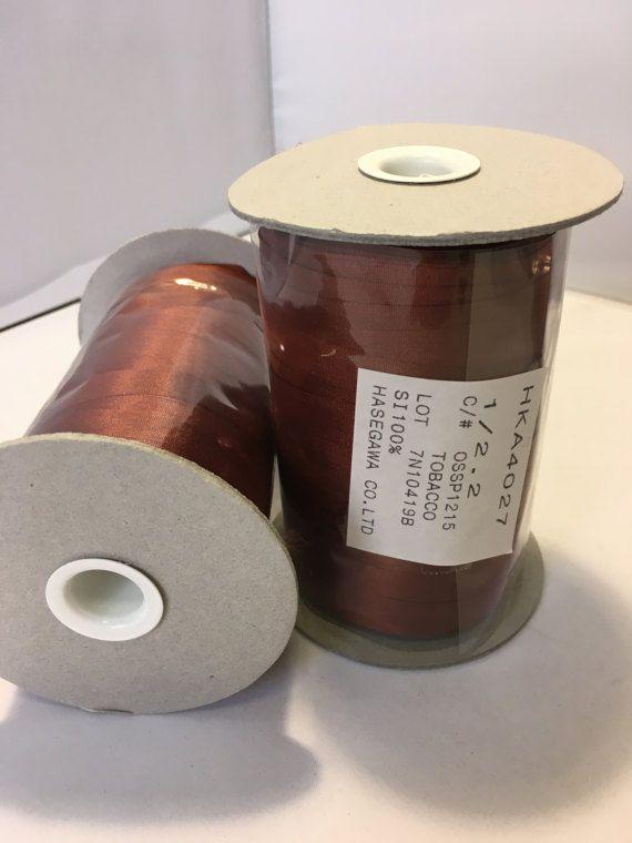 Hasegawa Yarn, 100% Silk,  Tobacco Brown color,  Hasegawa, Ribbon Yarn, Cone 50 gr