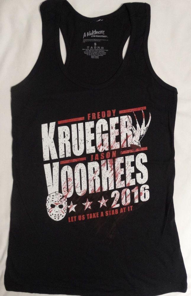 Nightmare Elm Street Freddy Krueger Friday The 13th Jason Vorhees Tank Top Shirt #NightmareOnElmStreet #GraphicTee