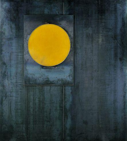 Jannis Kounellis, Untitled, 1987. Lead, wax, and steel,