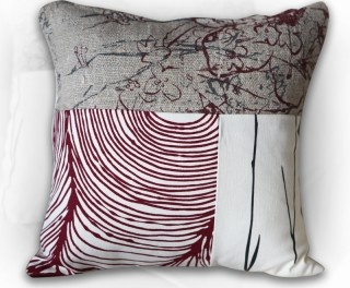 Red Threefold Cushion by The Eco Collective