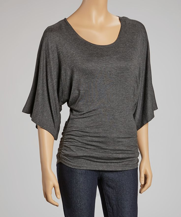 Gray Dolman Top I like tops that hide the muffin top and pair well with skinny jeans I own and love!