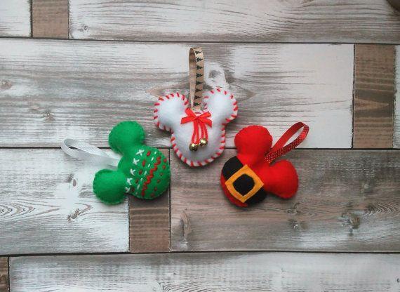 Charming Handmade Felt Disney Christmas Decorations