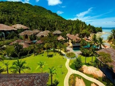 Amazing hotel area of Chantaramas Resort in the South of Koh Phangan, Thailand