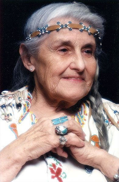 Image: Grandmother Twylah, Elder and founder of the Seneca Indian Historical Society. Many decades ago, Grandmother was designated to preserve the Wolf Clan teachings by her maternal grandfather, Moses Shongo, who was a practicing Seneca Medicine Man. Grandmother Twylah is an advocate of the need to preserve the traditions and wisdom of Native people.