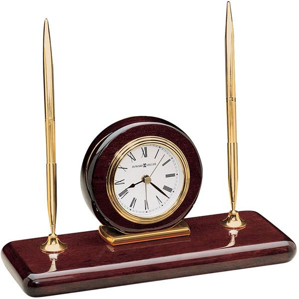 0-007918>Rosewood Desk Set Alarm Rosewood Hall