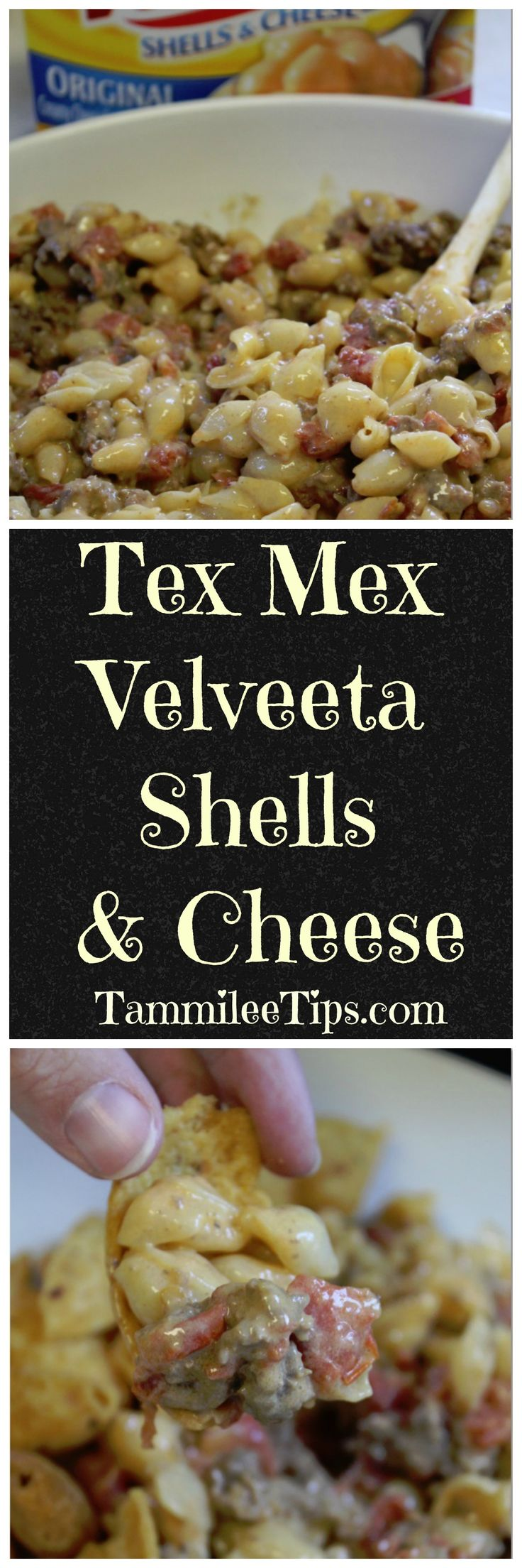 Tex Mex Velveeta Shells & Cheese Recipe! Take your Velveeta dinner up a notch with this fun recipe. Perfect for family dinners it is so easy to make!
