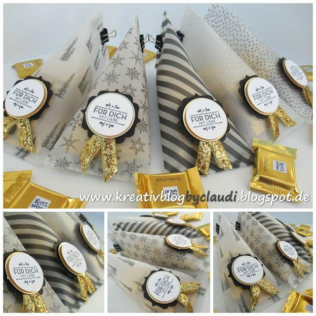 www.kreativblogbyclaudi.blogspot.de: Goldene Goodies