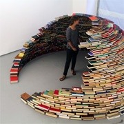 Not sure how you'd actually read on eof these books, but I just loved this image! Now to try it in Dry Stone!