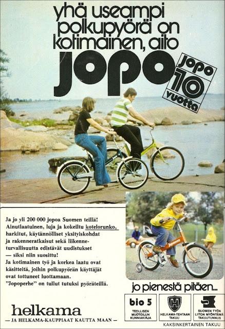 Helkama Jopo bike, 1975, Finland. All time classic.