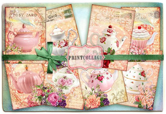 Digital Collage Sheet Designed Gift Tags and Cards by PrintCollage
