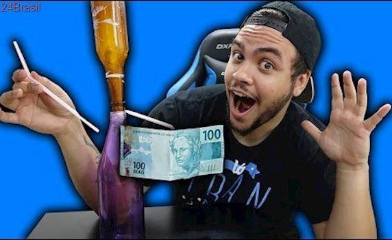 TRUQUE DA GARRAFA !! (DESAFIO DOS R$ 100 REAIS)