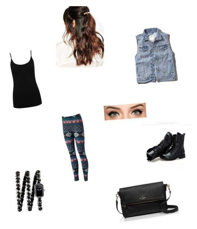 """""""Untitled #1"""" by fabulouschloe on Polyvore featuring M&Co, Abercrombie & Fitch, Sunsteps, Suzywan DELUXE, Kate Spade and Chanel"""