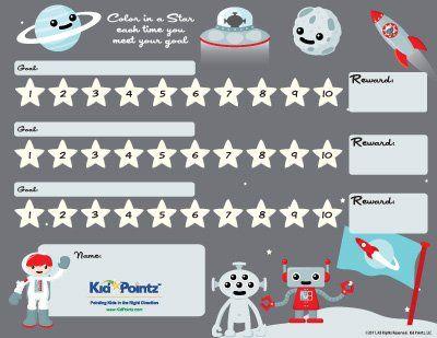 homework reward chart template -