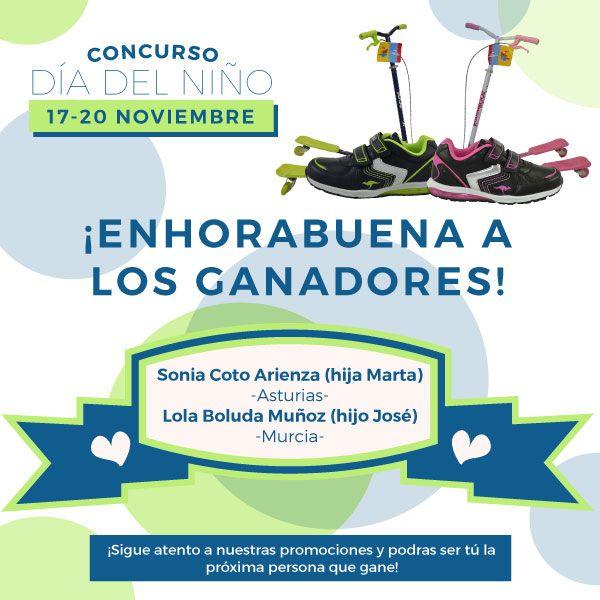 Ya tenemos ganadores del sorteo del día del niño. ¡Enhorabuena Sonia Coto Arienza y Lola Boluda Muñoz!