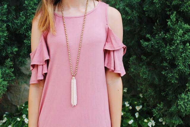Pink Ruffle T-Shirt Dress // Live The Prep Life