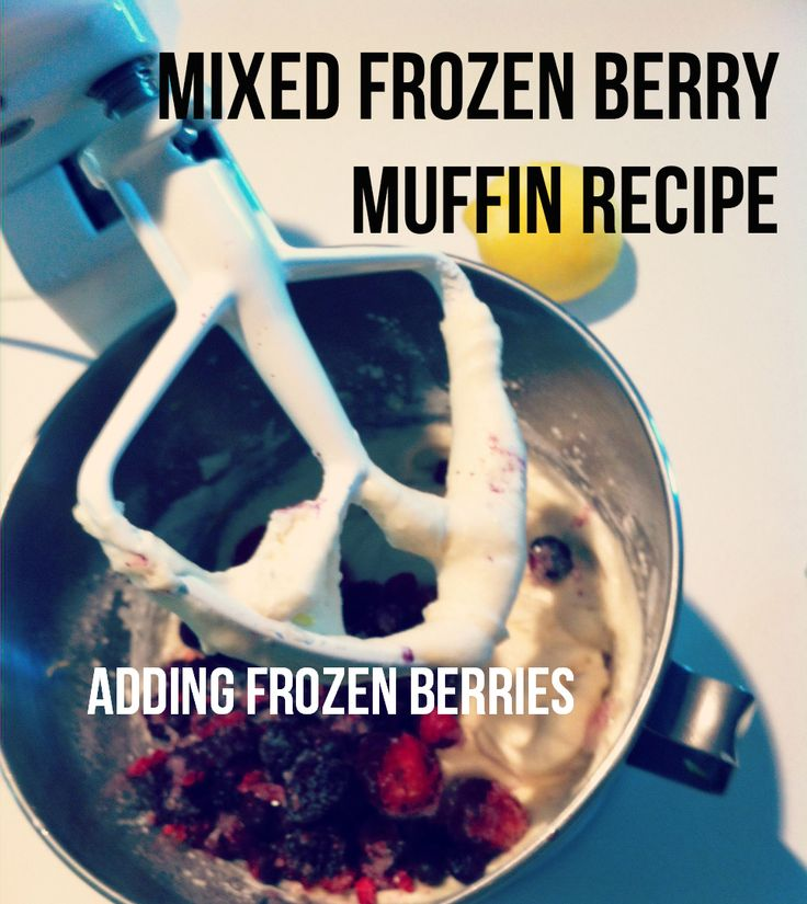 Making muffins with frozen berries and then about to freeze them for lunches. So simple.  http://cookingcheat.com/freezer-meals #freezer #recipe #freezermeals