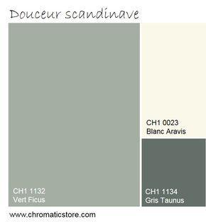 Douceur et sobriété sont les maîtres mots de cette association de teintes pour une ambiance cosy. www.chromaticstore.com #couleur2016 #déco #peinture