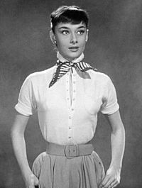 Audrey Hepburn in a screen test for Roman Holiday (1953) which was also used as promotional material.