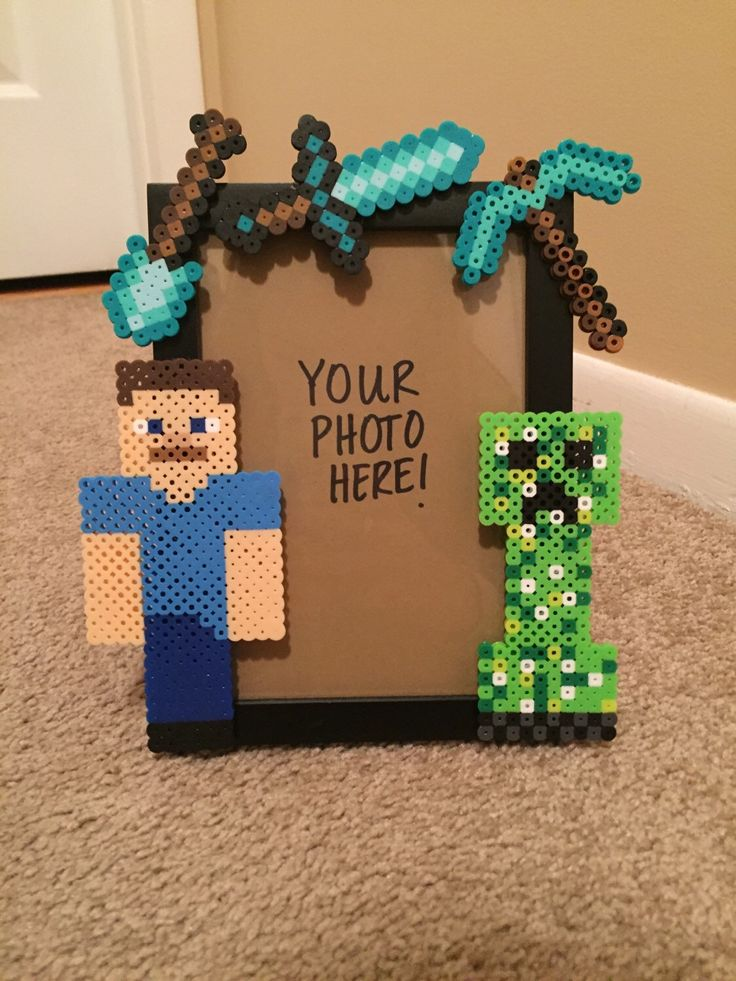 A personal favorite from my Etsy shop https://www.etsy.com/listing/269919407/minecraft-picture-frame
