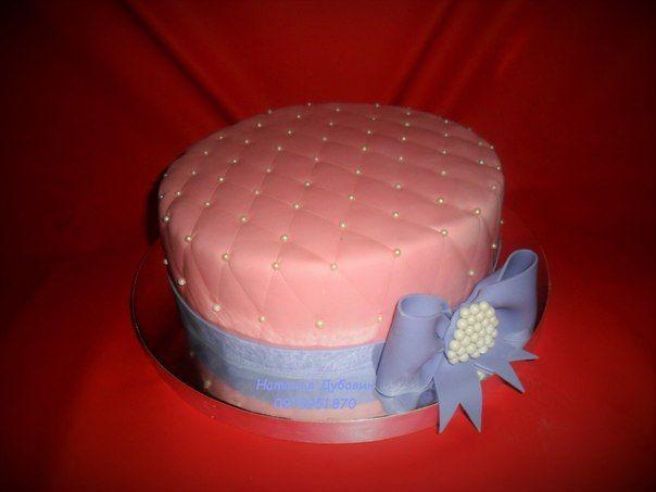 Розовый с сиреневым бантом #торт_на_заказ_харьков #день_рождения #бисквитный_торт #комбинированный_торт