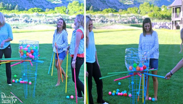 Giant Kerplunk | 27 Insanely Fun Outdoor Games You'll Want To Play All Summer Long
