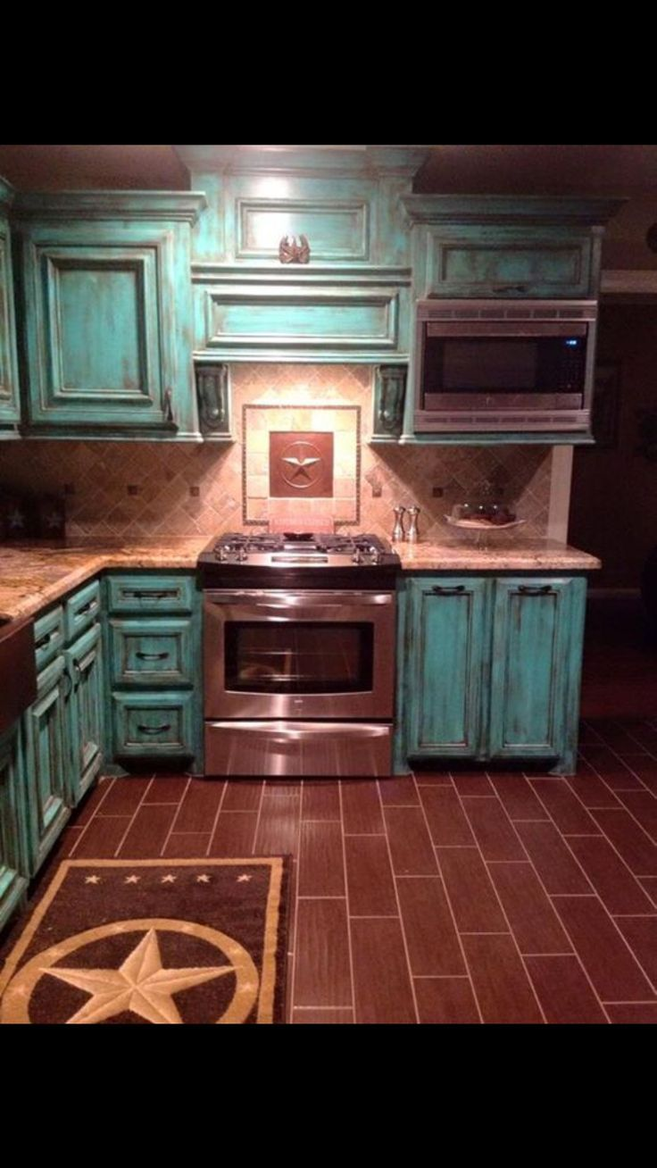 Beautiful Painted Cabinets Rustic Country Kitchens Rustic House Western Home Decor