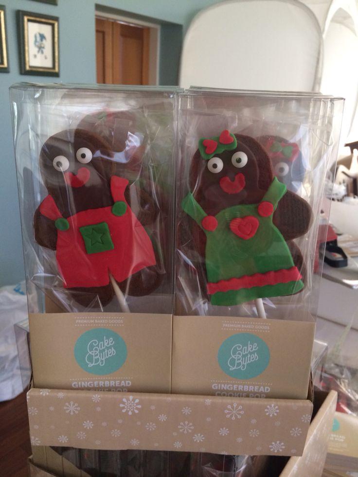 Gingerbread cookie pops
