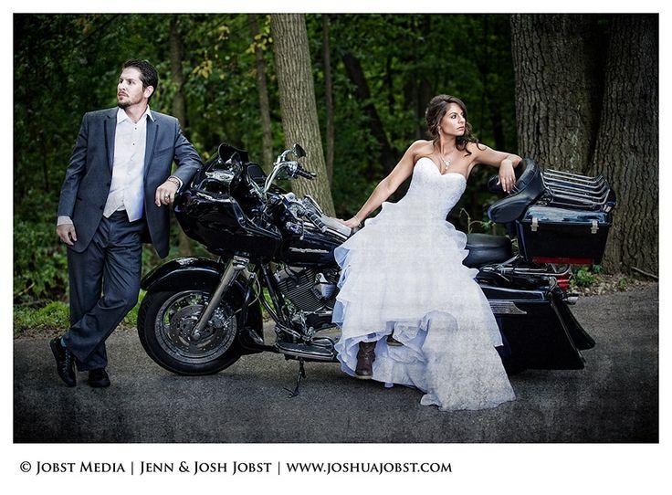 biker wedding pictures | Harley Davidson Motorcycle Wedding Photography Michigan 02