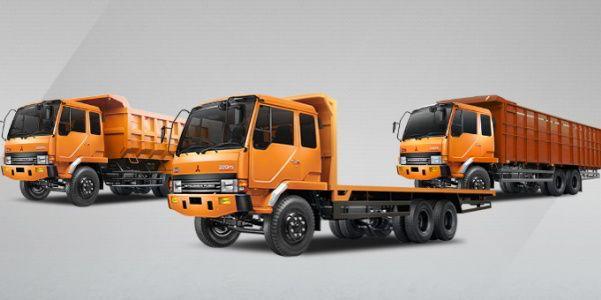 Sewa truk fuso Jogja 6 ban ukuran bak P:7 x L:2,4 x T:2 Meter, Muatan maksimal 13 Ton atau 10 Meter Kubik.