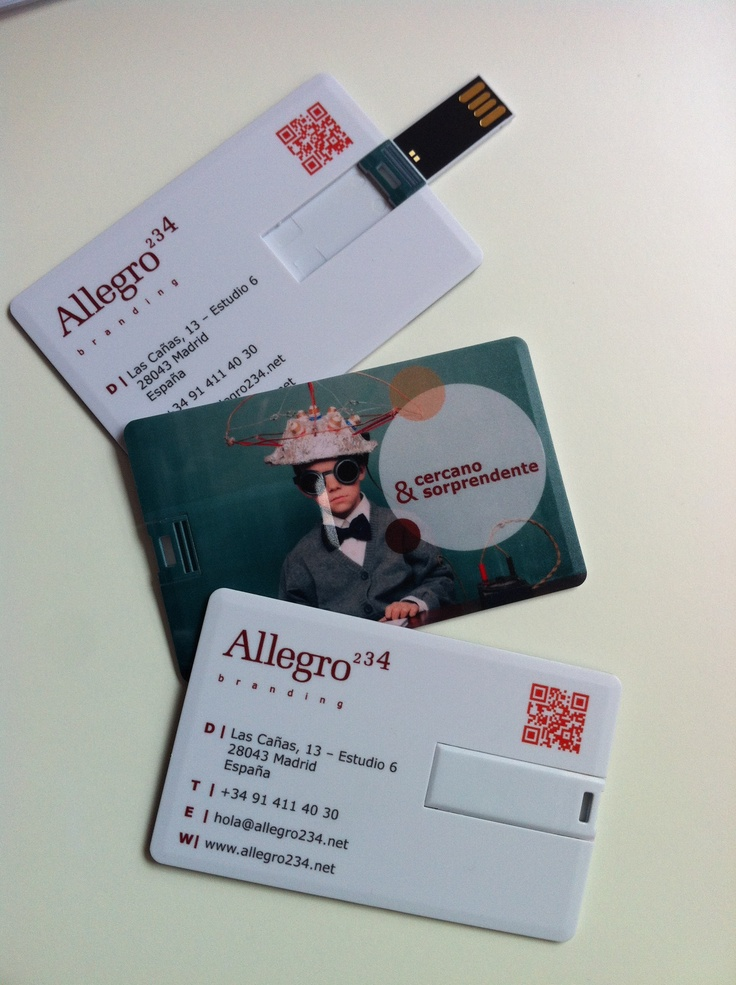 Our new Allegro 234 USB cards - #branding