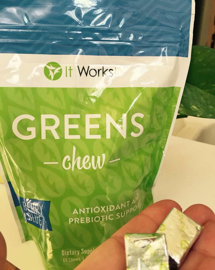 Healthy snacking! Green Chews contain fruits and veggies and just one serving has the antioxidant equivalent of 20 cartons of blueberries! Wow! And they are delicious! Tastes like a Now and Later