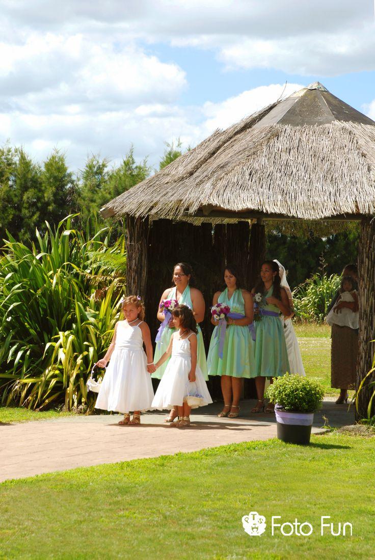 Maori Wedding celebration in Marae