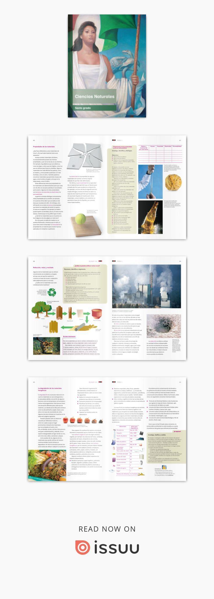 Primaria Sexto Grado Ciencias Naturales Libro De Texto Ciencias Naturales Libro De Texto Ciencia