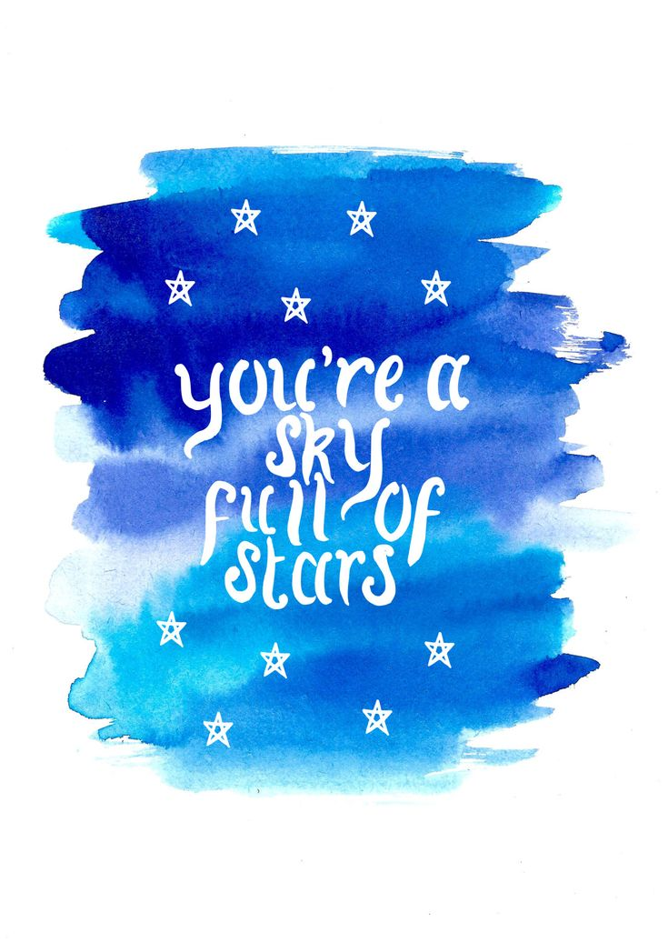 "imogenink: ""Lyrics from A Sky Full of Stars by Coldplay Requested by anonymous """