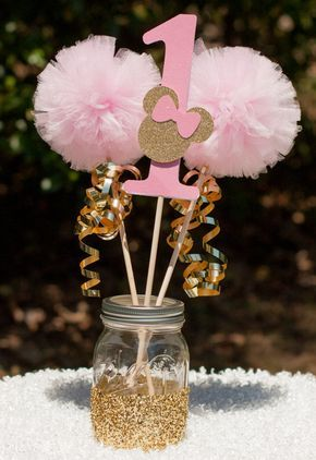 Minnie Mouse Party Pink and Gold Minnie by GracesGardens on Etsy